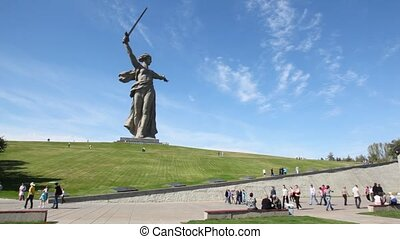 Monument of Native land-mother in Volgograd. - Monument of...