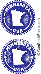 Minnesota USA Stamps - A couple of distressed stamps...