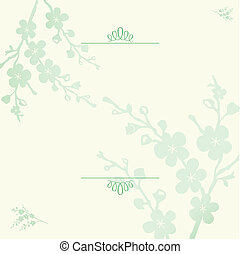 Vector Floral Blossom Background