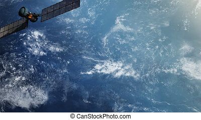 Military spy satellite in Orbit.