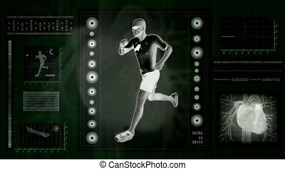 Checking human abilities X-ray view Health jogging