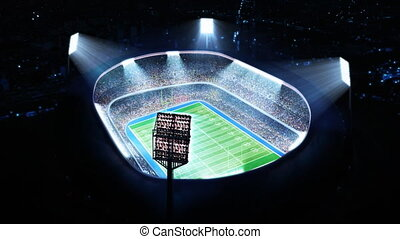 American football arena, stadium