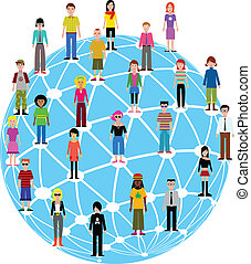 many different people - many different colorful people icons...