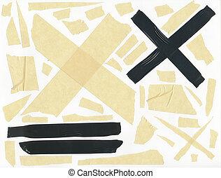 masking tape - isolated grunge stick adhesive piece paper...