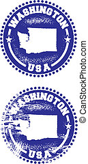 Washington USA Stamps - A couple of distressed stamps...