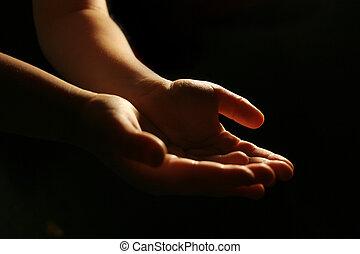 adorar, mãos