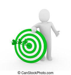 3d man target green
