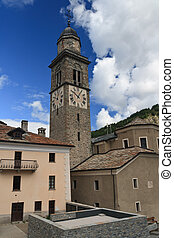 church in Cogne, Italy