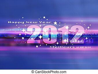 happy new year 2012 - good and happy new year 2012, festive...