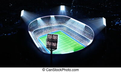 American football stadium Top view