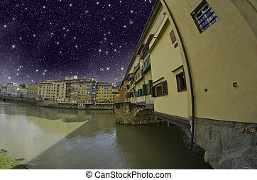 Starry Night over Ponte Vecchio, Florence - Starry Night...