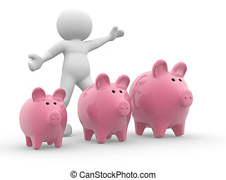 Three piggy bank