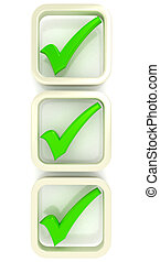 Check list Symbol over white 3d rendered image