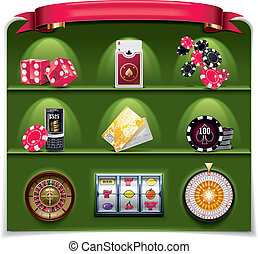 Vector gambling icon set. P.2 (g)