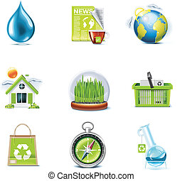 Vector ecology icon set. P.3