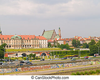 Embankment of Wisla, Warsaw, Poland