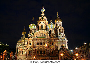 Saint-Petersburg, Russia, church quot;spas na kroviquot; -...