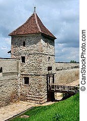Restored bastion of Brasov fortress, Romania - Restored...