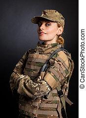 Beautiful army girl