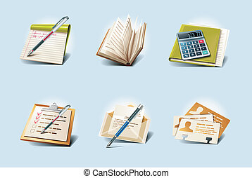 Vector application icons P1 - Set of the detailed...