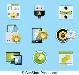 Applications and services icons - Typical smartphone icons...