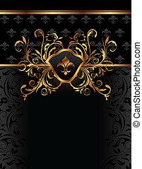 golden ornate frame for design - Illustration golden ornate...