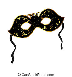 realistic carnival or theater mask isolated