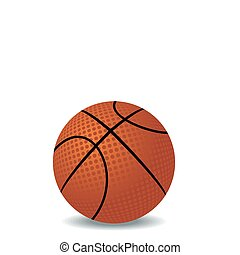 Realistic illustration of basket ball