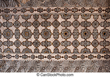 Amber Fort - architecture detail of Amber Fort in jaipur in...