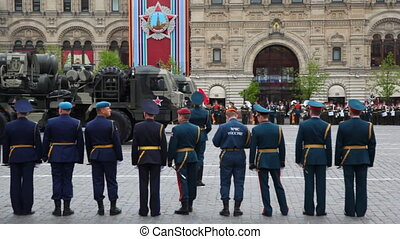 Air missile system of large and medium-range Triumph on Red Square