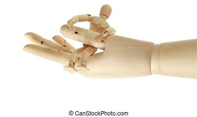 Rotation of toy giant arm with little toy man - Rotation of...