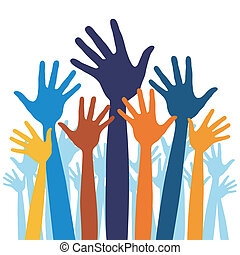 Happy hands vector - Happy hands vector illustration
