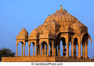 Bada Bagh Cenotaph jaisalmer in rajasthan state in india