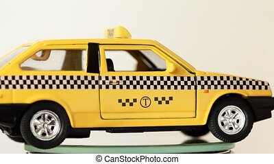 Toy model russian automobile are shown All around - Yellow...