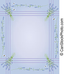 lavender border - an illustration of a lavender flower...