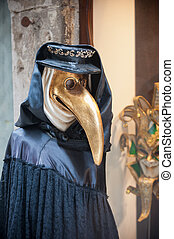 Beak doctor venetian mask