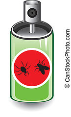 Insect spray Illustration on white background