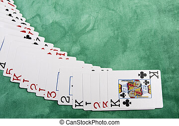 spreading of cards