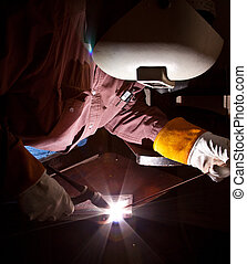 Tig welder - tig welding