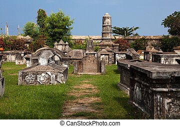 dutch cemetery of cochin in Kerala state indi