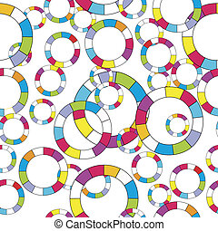 Pattern with colored abstract circles