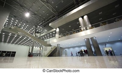 Modern business the center with visitors. Some floors,...