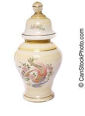 urn ceramic vase - Close up view of a urn ceramic vase...