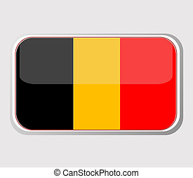Flag of belgium in the form. vector