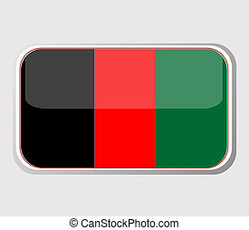 Flag of Afghanistan in the form. vector