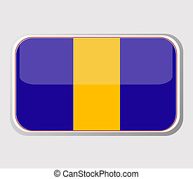 Flag of barbados in the form. vector