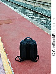 rucksack - Image of a rucksack on his back on the train...