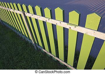 vert, barrière