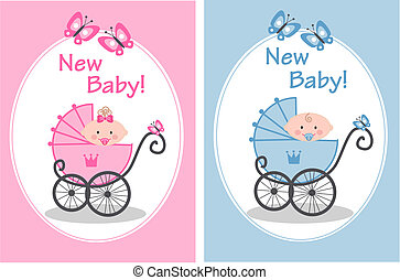new baby - newborn baby girl and baby boy