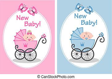 new baby - newborn baby girl and baby boy